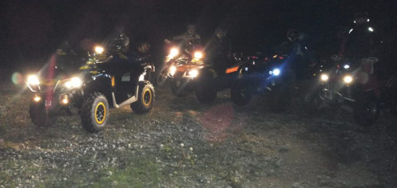 Escursioni notturne in quad col Team Quadcenter