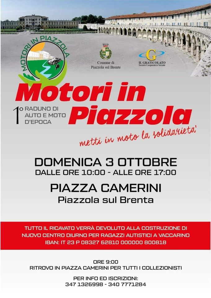 DOMENICA 3 OTTOBRE 2021 QUADCENTER MAROSTICA sarà presente a Motori in Piazzola a Piazzola su Brenta Piazza Camerini con una ricca esposizione di mezzi TGB e SEGWAY.